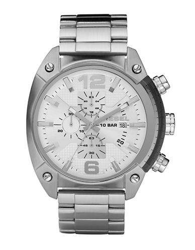 Diesel Chronograph Stainless Steel Watch-SILVER-One Size