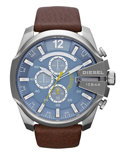 Diesel Mens  Brown and Blue Watch-BROWN-One Size