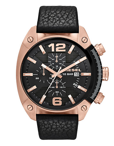 Diesel Black and Rose Gold Watch-BLACK-One Size
