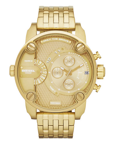 Diesel Mens Stainless Steel Watch-GOLD-One Size