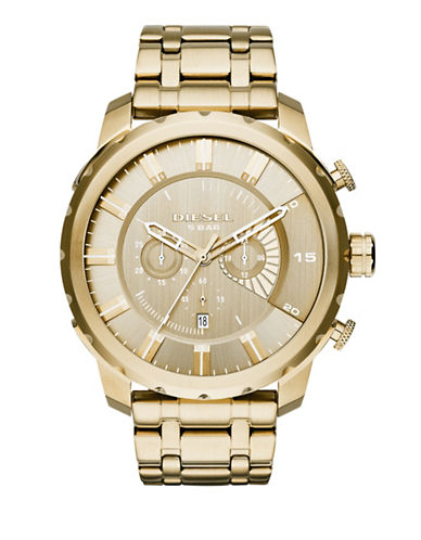 Diesel Stainless Steel Chronograph Watch-GOLD-One Size
