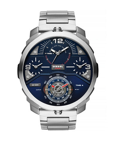 Diesel Machinus Stainless Steel Chronograph Watch-SILVER-One Size