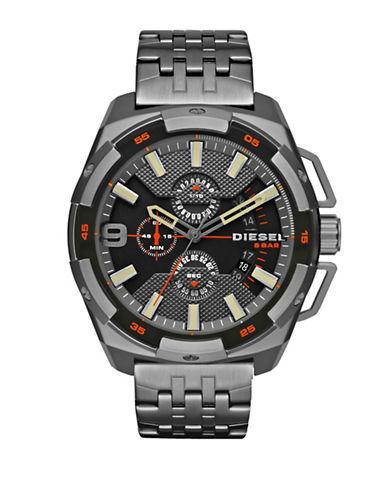 Diesel Heavyweight Stainless Steel Bracelet Watch-GUNMETAL-One Size