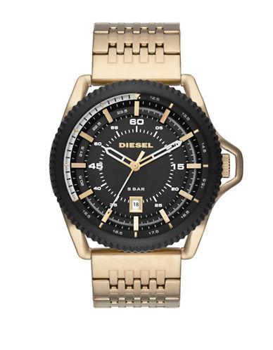 Diesel Goldtone Stainless Steel Analog Rollcage Bracelet Watch-GOLD-One Size