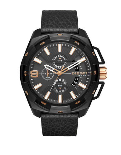 Diesel Heavy Weight Chronograph Watch-BLACK-One Size