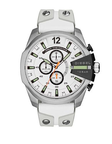 Diesel Mega Chief Series Quartz Strap Watch-WHITE-One Size