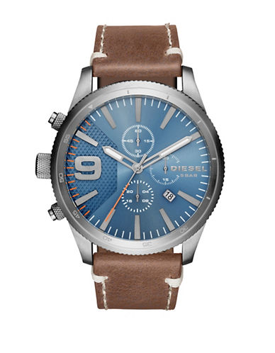 Diesel Rasp Chronograph Strap Watch-BROWN-One Size