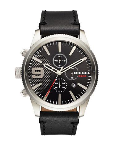 Diesel Rasp Chronograph Strap Watch-BLACK-One Size