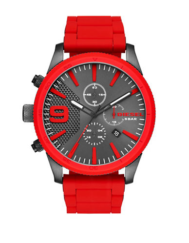 Diesel Rasp Red Chronograph Bracelet Watch-RED-One Size