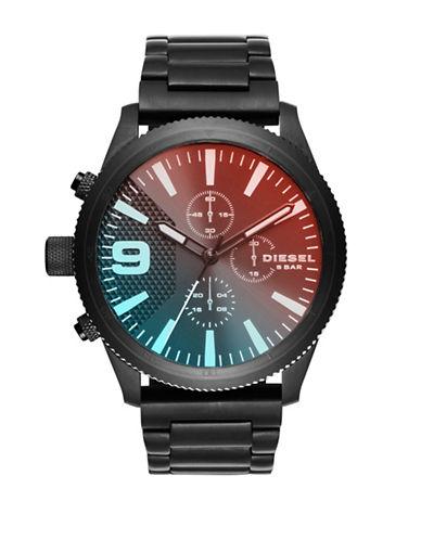 Diesel Rasp Black Chronograph Bracelet Watch-BLACK-One Size