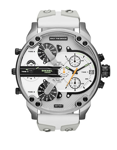 Diesel Mr. Daddy 2.0 Strap Watch-WHITE-One Size