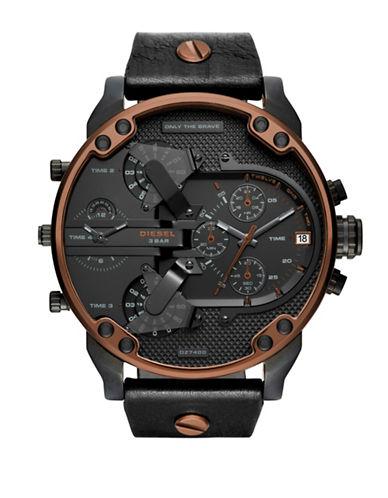 Diesel Mr. Daddy Series Strap Watch-BLACK-One Size
