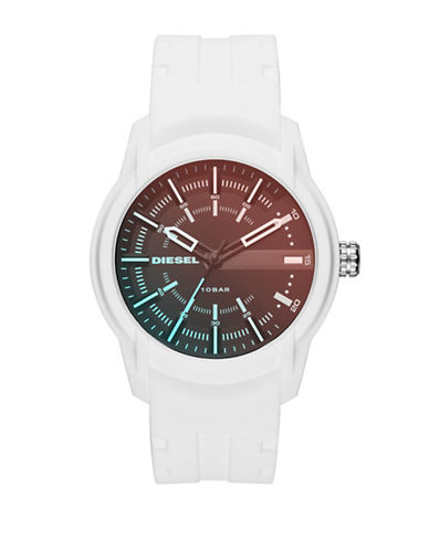 Diesel Armbar Quartz Strap Watch-WHITE-One Size