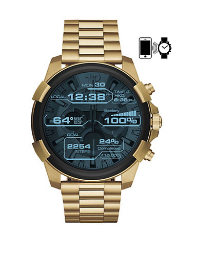 Diesel Touchscreen Smartwatch Full Guard Goldtone Stainless Steel Link Bracelet Watch-GOLD-One Size