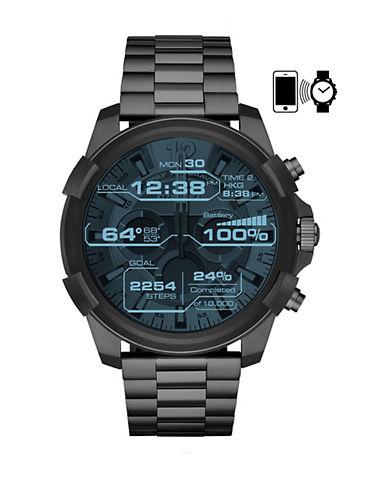 Diesel Touchscreen Smartwatch Full Guard Black IP Stainless Steel Link Bracelet Watch-BLACK-One Size