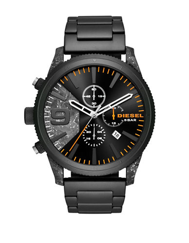 Diesel Black Stainless Steel Chronograph Link Bracelet Watch-BLACK-One Size