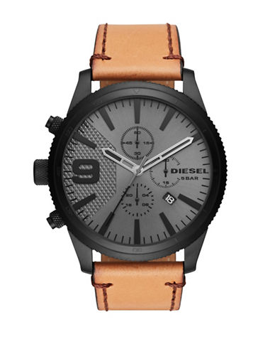 Diesel Rasp Chronograph Watch-TAN-One Size