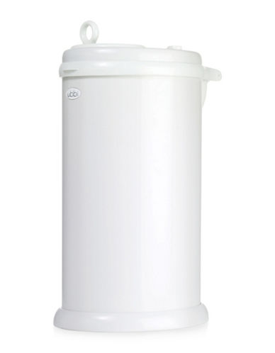 Ubbi Solid Diaper Pail-WHITE-One Size