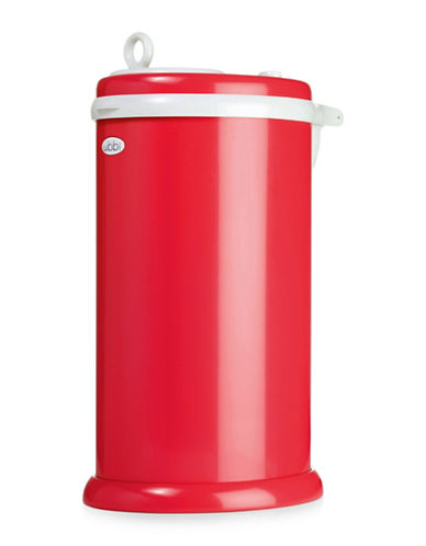 Ubbi Solid Diaper Pail-RED-One Size