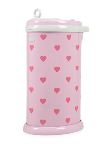 Ubbi Hearts Diaper Pail-PINK-One Size