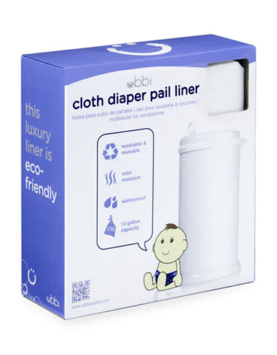 Ubbi Cloth Diaper Pail Liner-WHITE-One Size