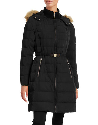 Kate Spade New York Bow Belt Down Walker Coat-BLACK-Small 88431879_BLACK_Small