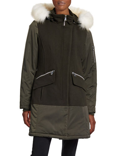 Image of 1 Madison Loden Wool-Blend Parka-GREEN-Large