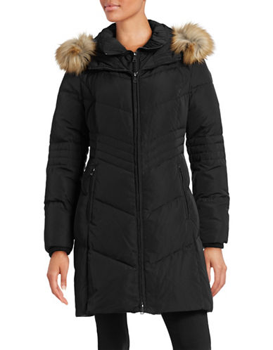 London Fog Fit-and-Flare Down Walker Coat-BLACK-Small 88421060_BLACK_Small
