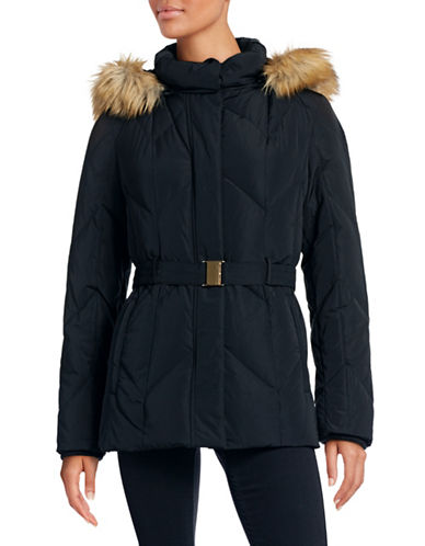 London Fog Down Chevron Quilted Jacket-BLACK-X-Large 88421053_BLACK_X-Large