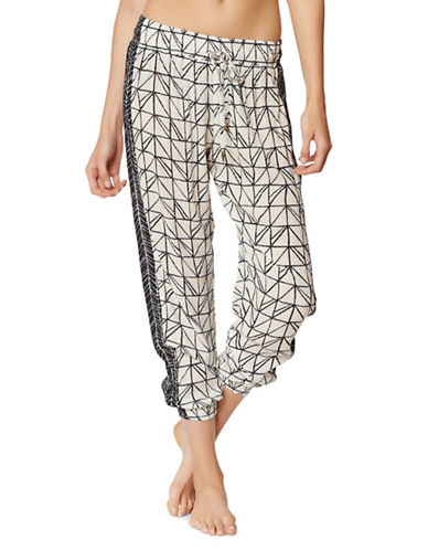 Dolce Vita Printed Lounge Pants-CREAM-X-Small