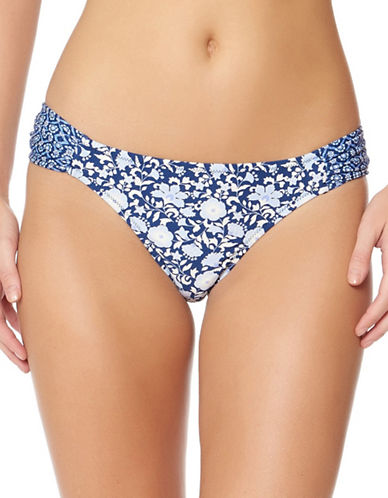 Jessica Simpson Floral Patterned Hipster Bottoms-PERIWINKLE MULTI-Medium