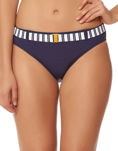 Bleu By Rod Beattie Belted Hipster Bottom-NAVY-14