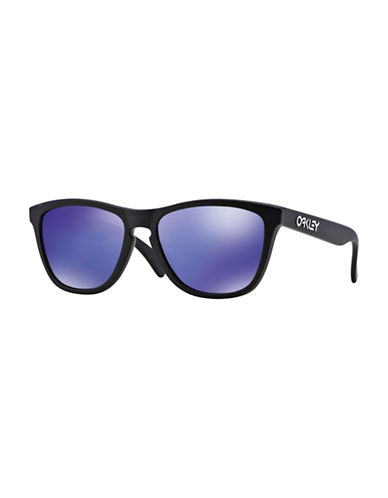 Oakley Frogskins Square Sunglasses-BLACK PURPLE-One Size