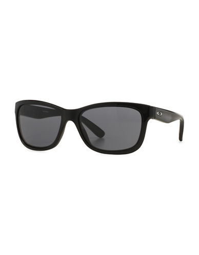 Oakley Forehand Square Sunglasses-POLISH BLACK-One Size