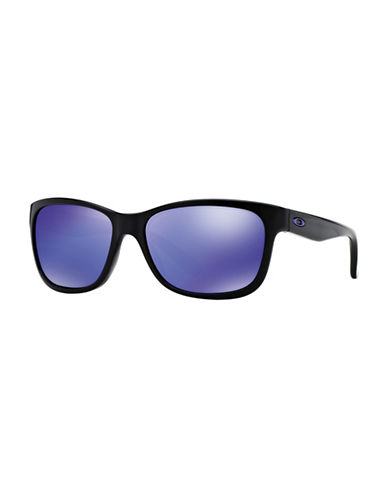 Oakley Forehand Square Sunglasses-BLACK BLUE-One Size