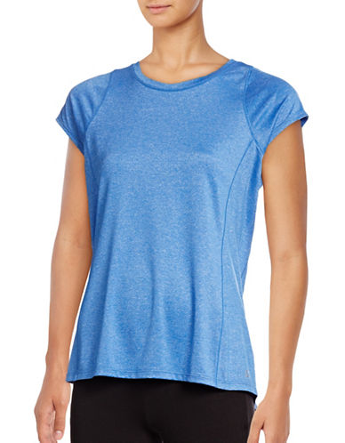 Calvin Klein Performance Marled Quick-Dry T-Shirt-BLUE-Large 88822701_BLUE_Large