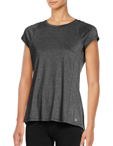 Calvin Klein Performance Marled Quick-Dry T-Shirt-BLACK-Medium 88822697_BLACK_Medium