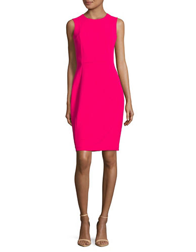 Calvin Klein Sleeveless Sheath Dress-LIPSTICK-12