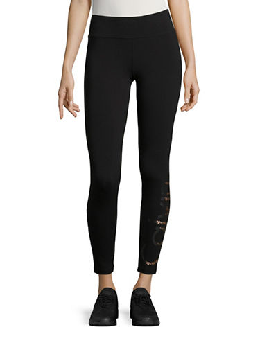 Calvin Klein Performance Quick-Dry Logo Crop Leggings-BLACK-Small 88822653_BLACK_Small