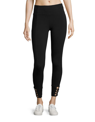 Calvin Klein Performance Printed Stretch Leggings-BLACK-Medium 88822667_BLACK_Medium