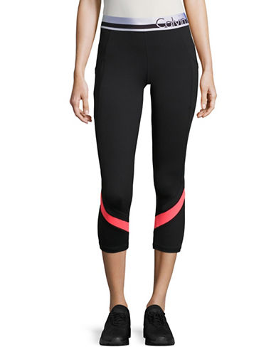 Calvin Klein Performance Logo Waist Performance Leggings-BLACK-Medium 88924047_BLACK_Medium