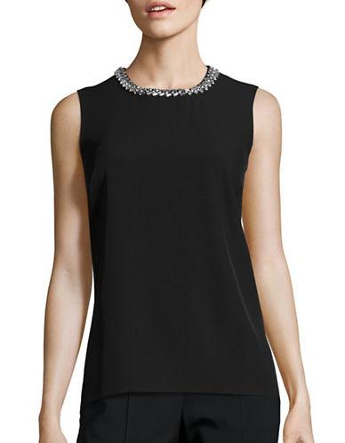 Calvin Klein Beaded Shell Top-BLACK-Medium 88778771_BLACK_Medium