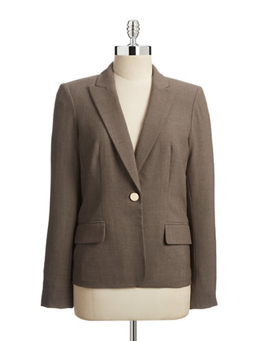 Calvin Klein One Button Blazer-GREY-4