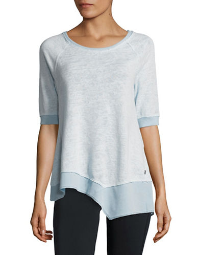 Calvin Klein Performance Cotton-Blend Tee-LIGHT BLUE-Small 89983950_LIGHT BLUE_Small