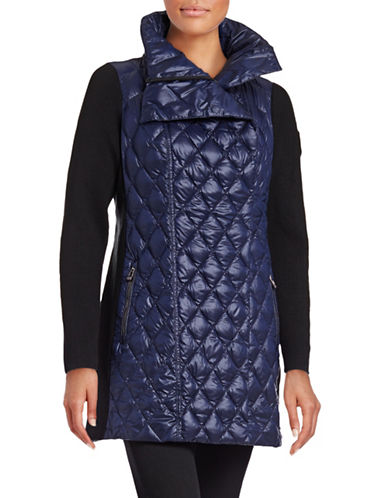Calvin Klein Performance Side-Rib Quilted Fill Coat with Faux Fur Hood-BLUE-Large 88695082_BLUE_Large