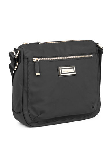 Calvin Klein Nylon Messenger Bag-BLACK/GOLD-One Size