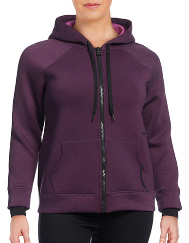 Calvin Klein Performance Plus Scuba Hi-Lo Jacket-PURPLE-1X 88767004_PURPLE_1X