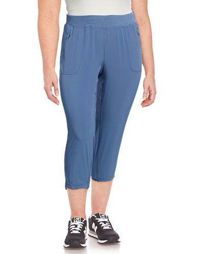 Calvin Klein Performance Plus Drawstring Capri Pants-BLUE-1X 88997770_BLUE_1X