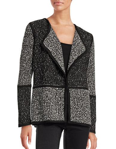 Calvin Klein Blocked Flyaway Cardigan-BLACK-Small 88712634_BLACK_Small