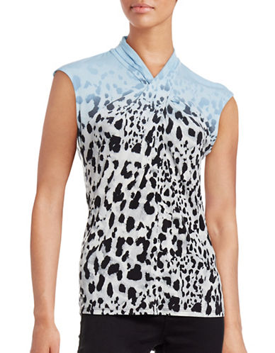 Calvin Klein Sleeveless Animal Print Top-BLUE-X-Small 88712732_BLUE_X-Small